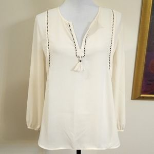 J. Crew off white tunic blouse, size 4P.